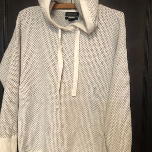 Rachel Zoe knit hooded sweater with thumb holes